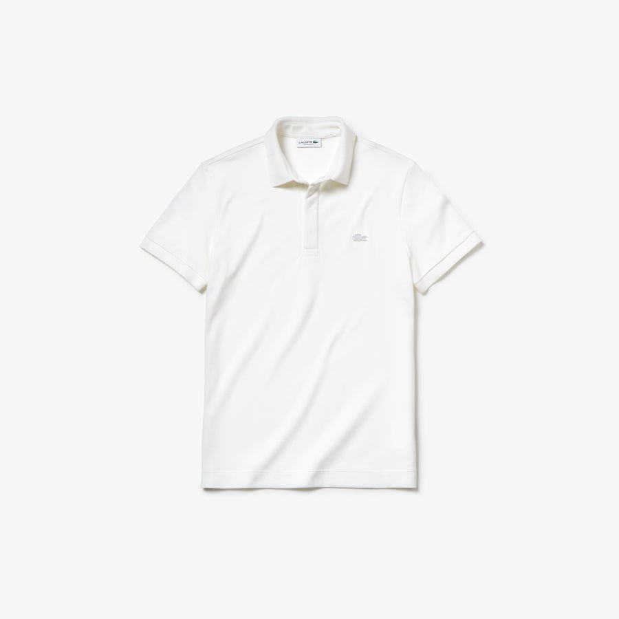 Men's Lacoste Paris Polo Shirt Regular Fit Stretch Cotton Piqué--White
