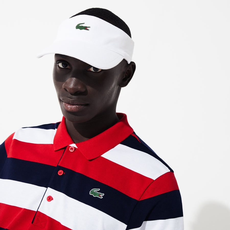 Men's Lacoste SPORT Striped Ultra Light Cotton Polo Shirt