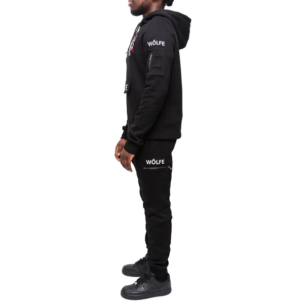 WÖLFE MENS EMBROIDERED MATTHEW 7:15 EMBLEM TRACKSUIT