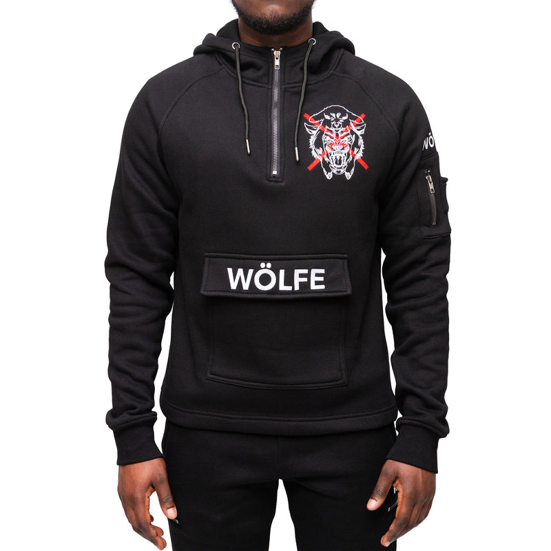 WÖLFE MENS EMBROIDERED MATTHEW 7:15 EMBLEM TRACKSUIT - Wölfeclothing