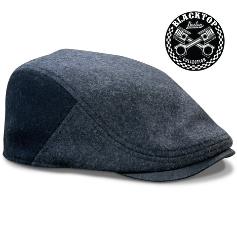 The 'Blacktop' Boston Scally Cap - Asphalt