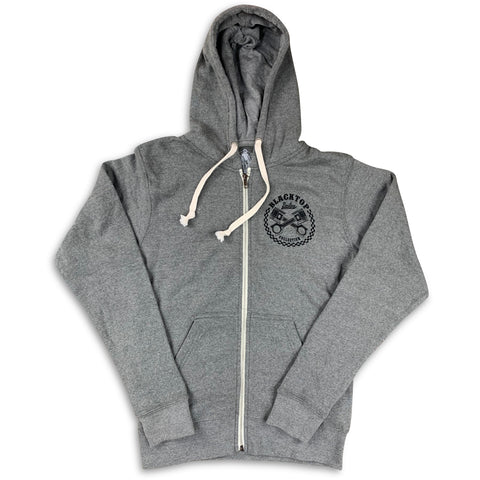 'Blacktop' Zip-Up Hoodie - Vintage Grey