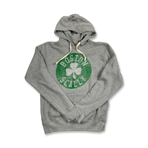 Boston Scally Celtic Hoodie - Heather Grey