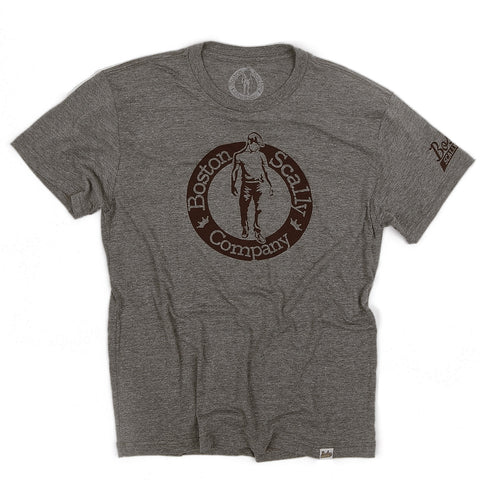 Boston Scally Tee-Grey