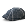 'Black Rose' Plaid Peaky Boston Scally Cap