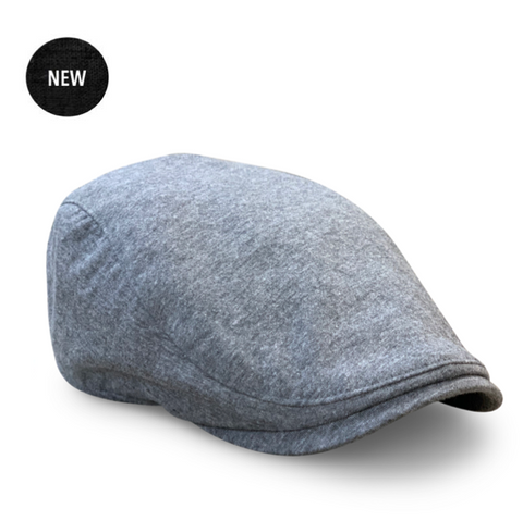 The 'Bruiser' Boston Scally Cap- Stone Grey
