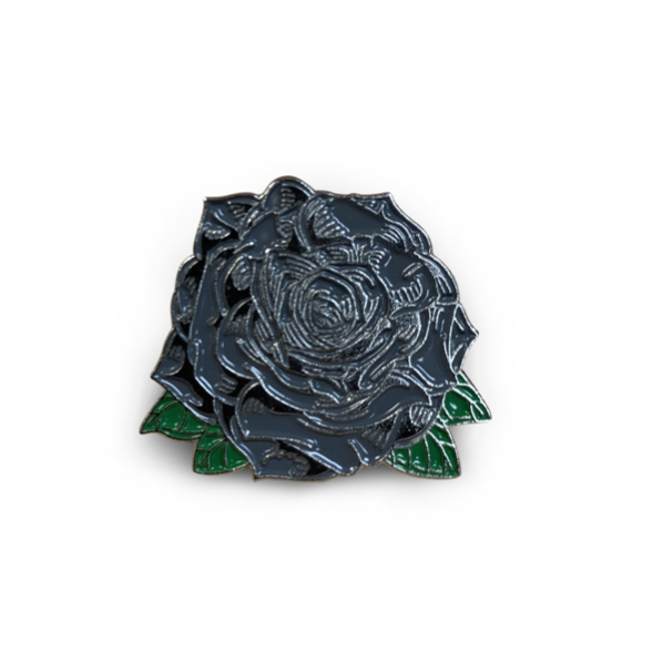 Boston Scally 'Black Rose' Scally Cap Pin