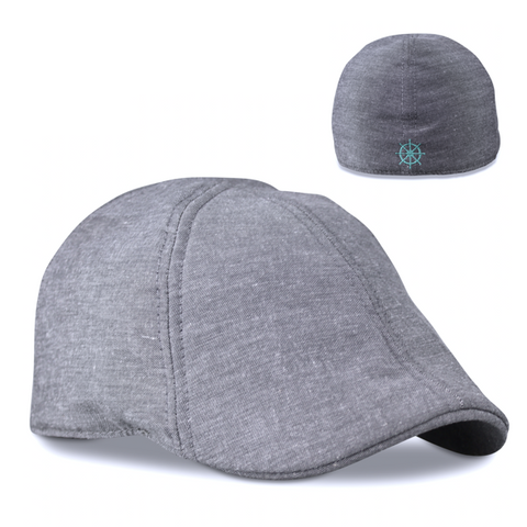 'The Cape Codder' Ship Wheel Scally Cap - Driftwood Grey