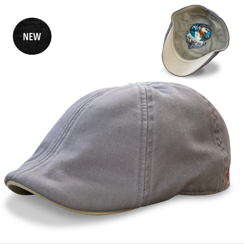 'Sailor' Boston Scally Cap - Driftwood Grey