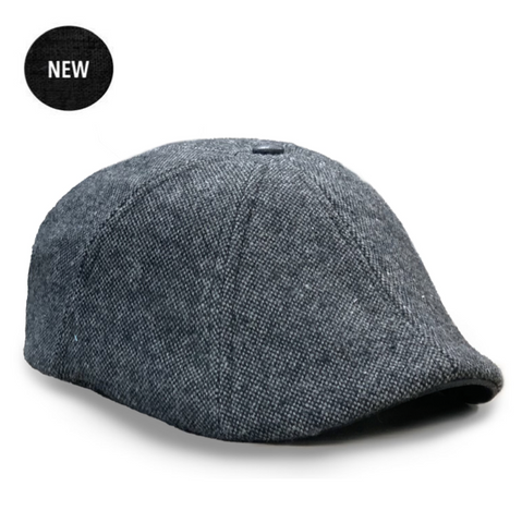 The 'Peaky' Boston Scally Cap - Charcoal & Slate