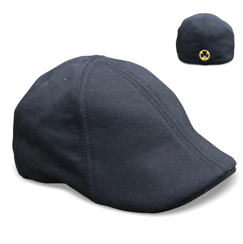 'The Bruin Dubliner' Scally Cap - Black
