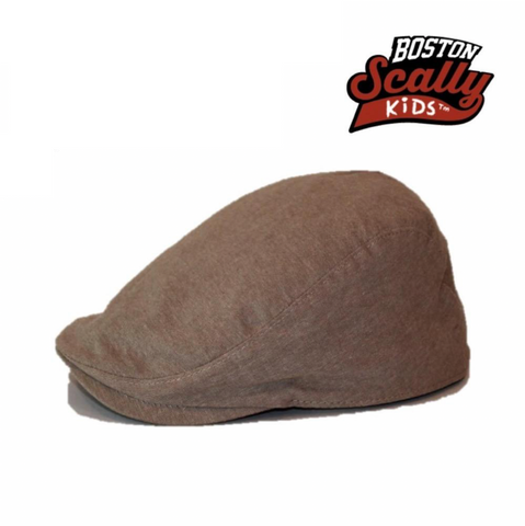 Boston Scally Kids Townie Cap - Tan
