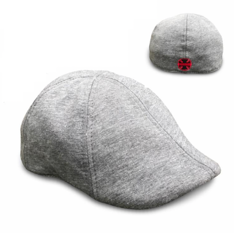 'The Responder' Classic Grey Scally Cap - Fire