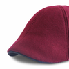 *NEW* 'The Kenmore' Scally Cap - Crimson with Black Brim