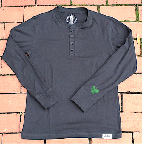 *Limited Edition* Boston Scally Shamrock Henley - Black