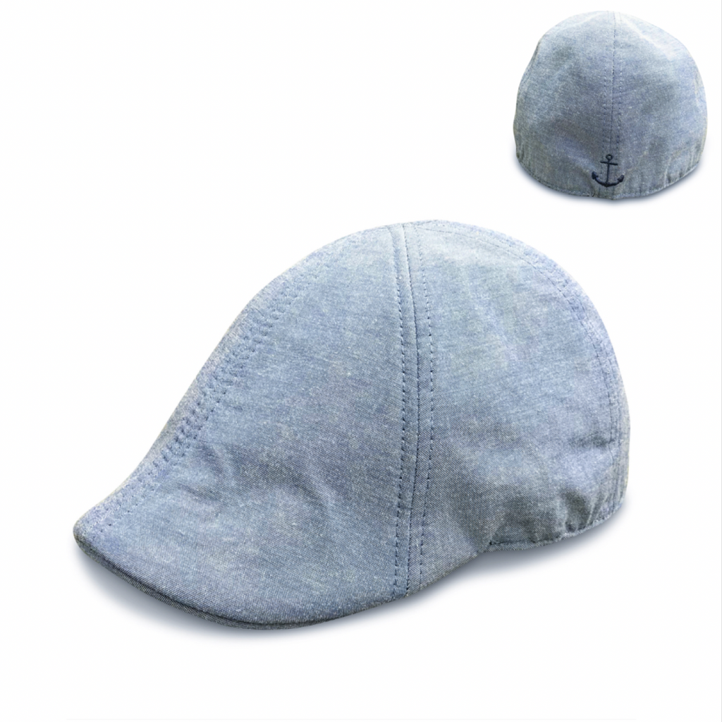 'The Cape Codder' Anchor Scally Cap - Saltbox Blue