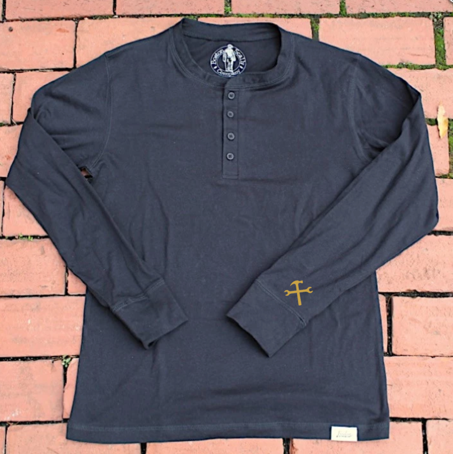 The 'Worker' Henley-Black