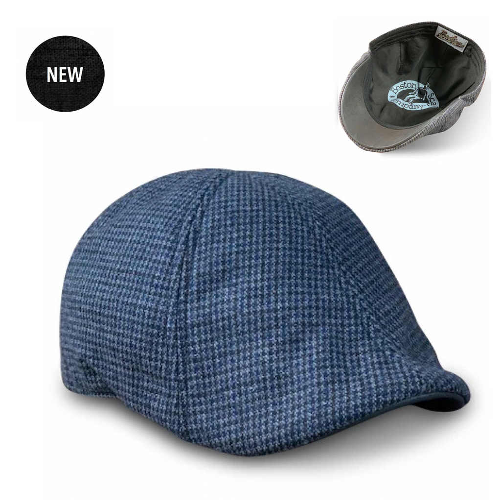 'The Homage' Black & Navy Houndstooth Scally Cap