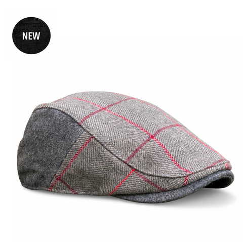 'The Whiskey' Cherry Oak Plaid Boston Scally Cap