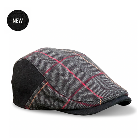 'The Whiskey' Smoke & Rye Plaid Boston Scally Cap