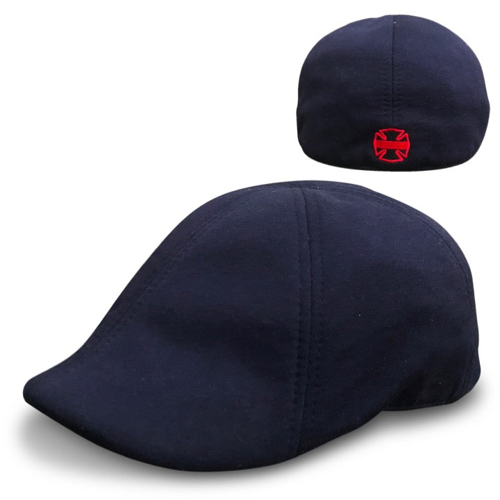 'The Responder' Blue Scally Cap - Fire