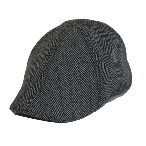 'The Donnybrook' Scally Cap-Grey Herringbone