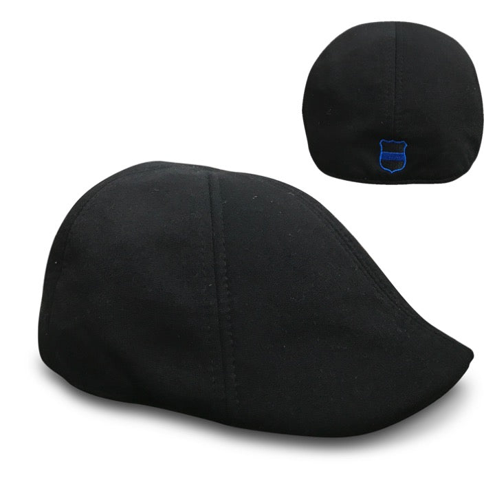 'The Responder' Black Scally Cap - Police