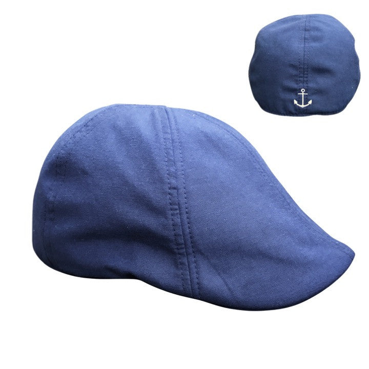 'The Cape Codder' Anchor Scally Cap - Marine Blue