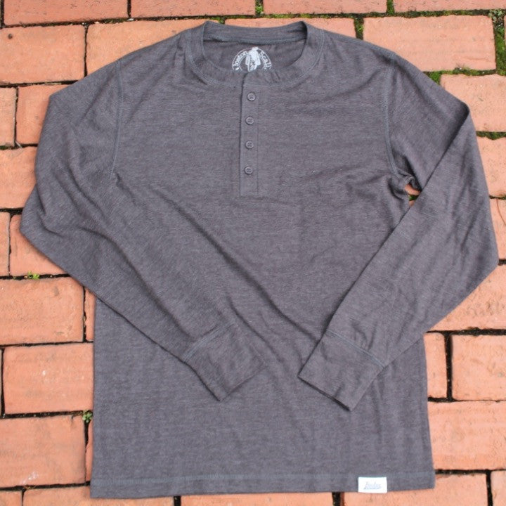 Boston Scally Henley - Charcoal