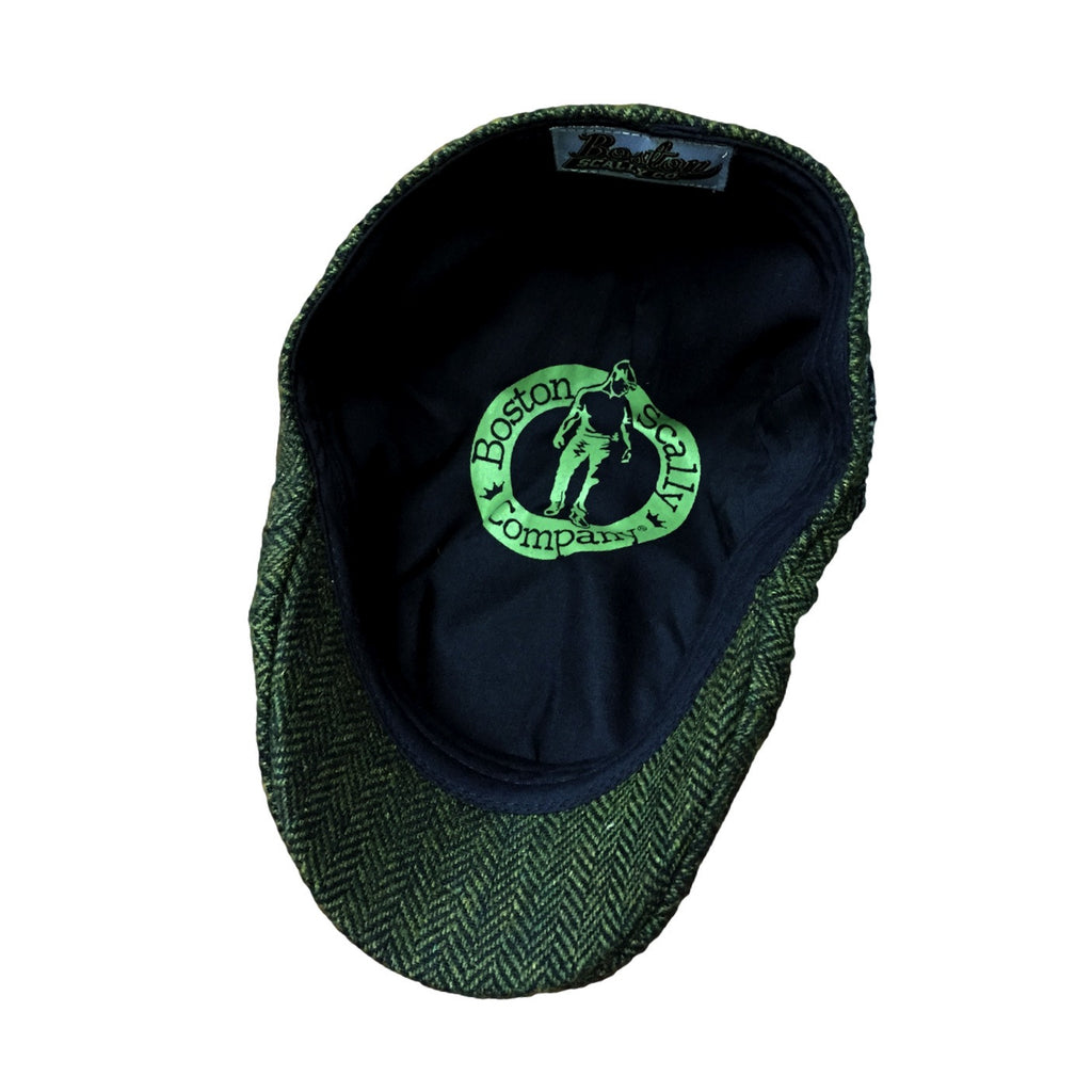 858971117 The Donnybrook' Scally Cap-Dark Olive Green Herringbone - Boston ...