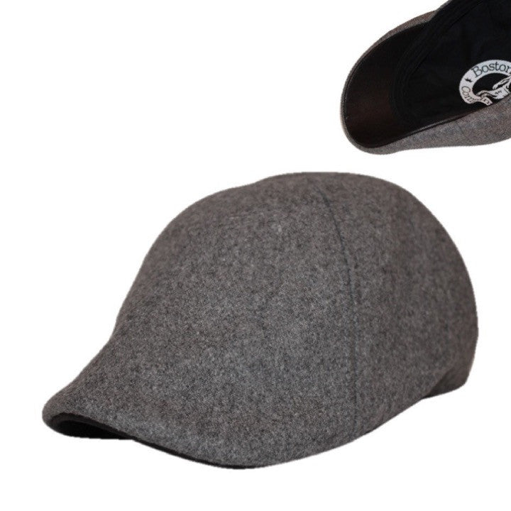'The Kenmore' Scally Cap - Coolidge Grey with Black Brim
