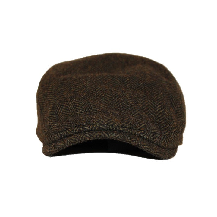 045018c46 The Original Boston Scally Cap - Dark Olive Green Herringbone ...