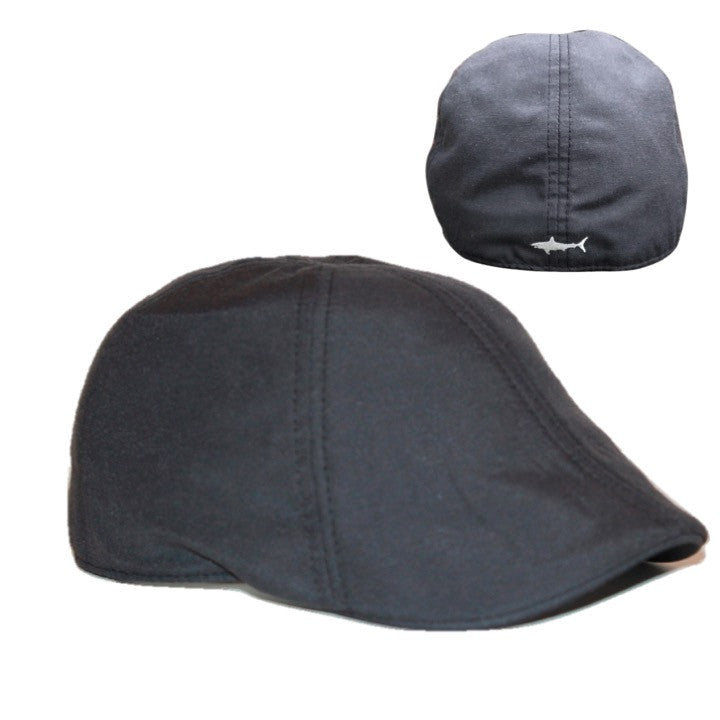 'The Cape Codder' Shark Scally Cap - Black Sand