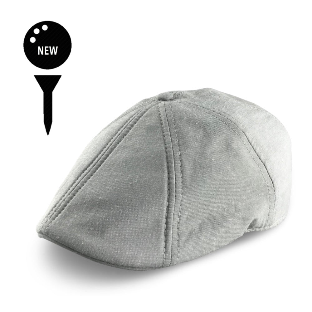 'The Caddy' Boston Scally Cap - Light Grey