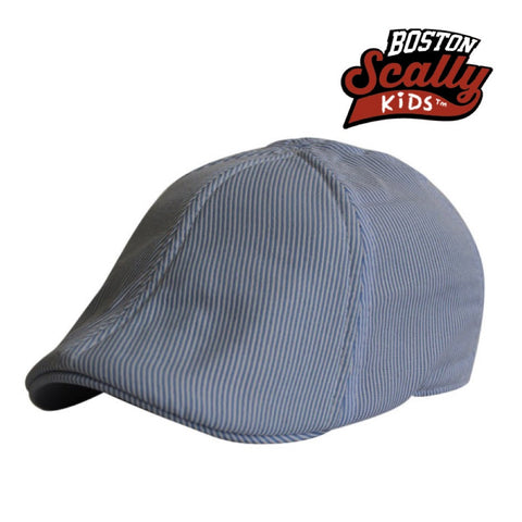 "Boston Scally Kids ""Seersucker"" Light Blue"