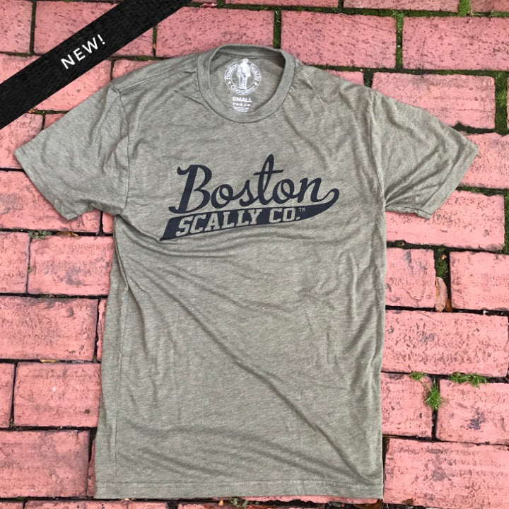 Boston Scally Military Green Tee