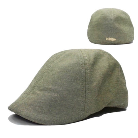 'The Cape Codder' Striper Scally Cap - Seagrass Green