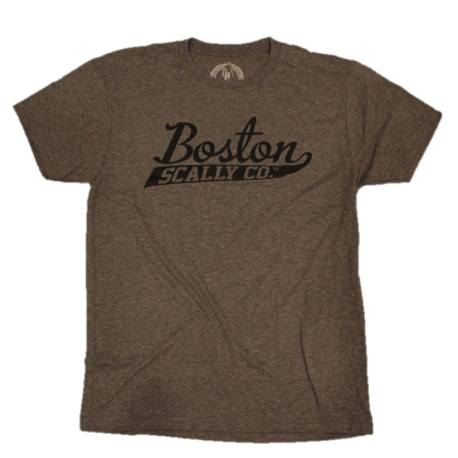 Boston Scally Original Tee - Grey with Black Script