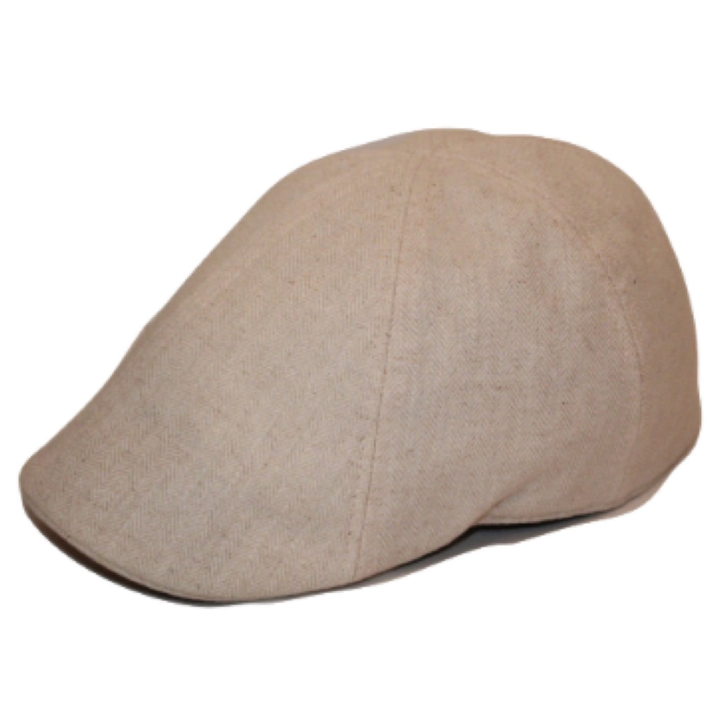 'The Jetty' Scally Cap - White Sand