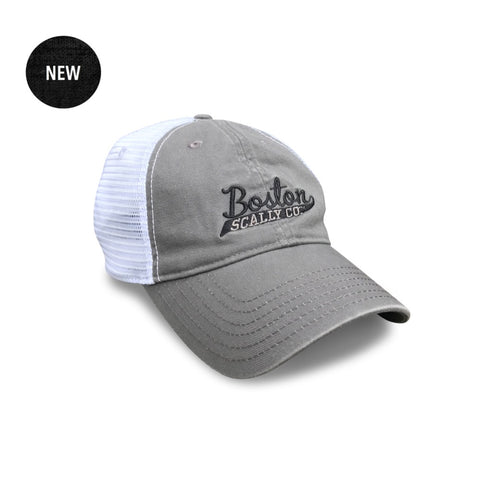 Boston Scally Co. - Mesh Snapback Baseball Cap - Grey