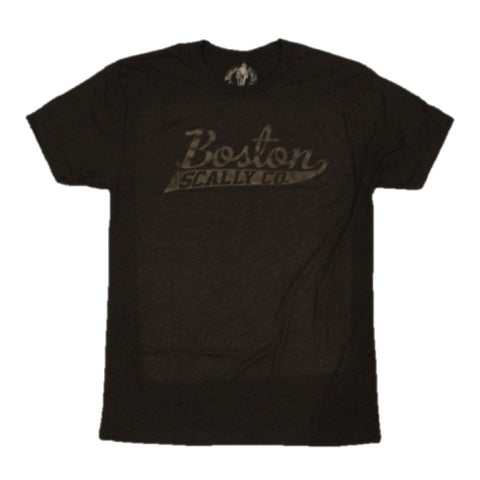 Boston Scally Original Tee - Black with black script