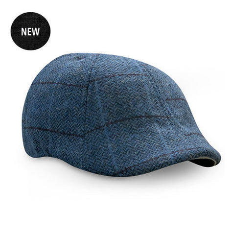 The 'Bourbon' Boston Scally Cap - Royal Rye Plaid