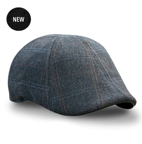 The 'Bourbon' Boston Scally Cap - Smoke & Peat Plaid