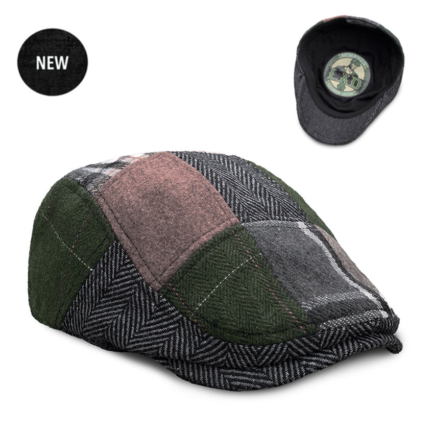 The 'Lad' Boston Scally Cap - Patchwork Edition