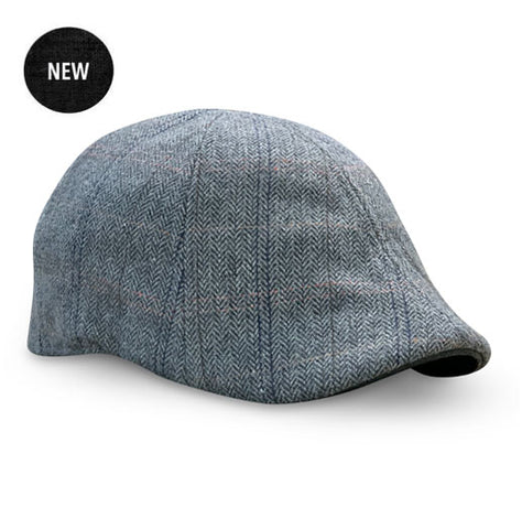 The 'Bourbon' Boston Scally Cap - Steel Oak Plaid