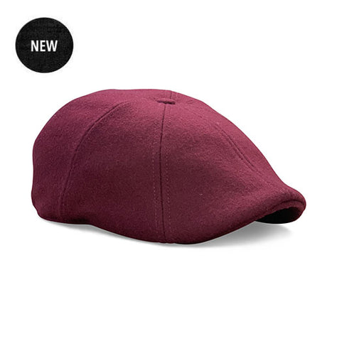 The Christmas 'Peaky' Boston Scally Cap - Crimson