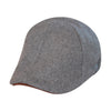 'The Kenmore' Scally Cap - Allston Grey with Brown Brim