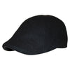 'The Kenmore' Scally Cap - Coolidge Black with Black Brim