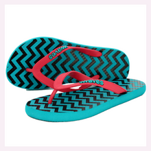Load image into Gallery viewer, 100% Natural Rubber Flip Flop – Printed Zig Zag