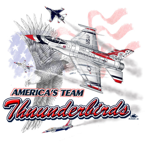 Thunderbird American Eagle Adult Tee Shirt